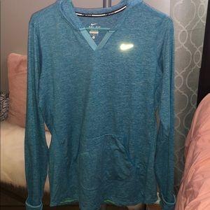 Blue Nike workout sweater